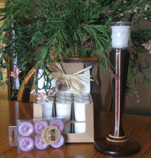 Premium retail and wholesale scented votives.